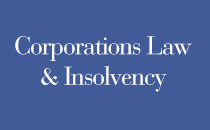 Corporations Law and Insolvency